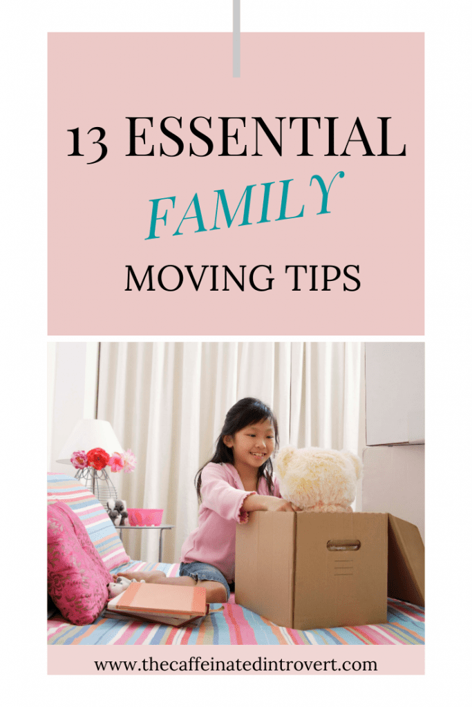 girl packing her toys for move.  Moving family tips.