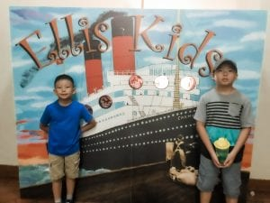 Boys at Ellis Island