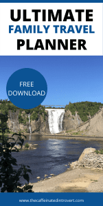 water fall in Quebec City; free download on family travel planner