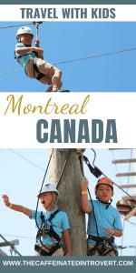 boys enjoying aerial park in Montreal