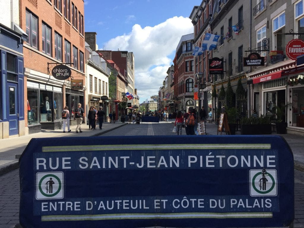 Rue Saint-Jean in Old Quebec City