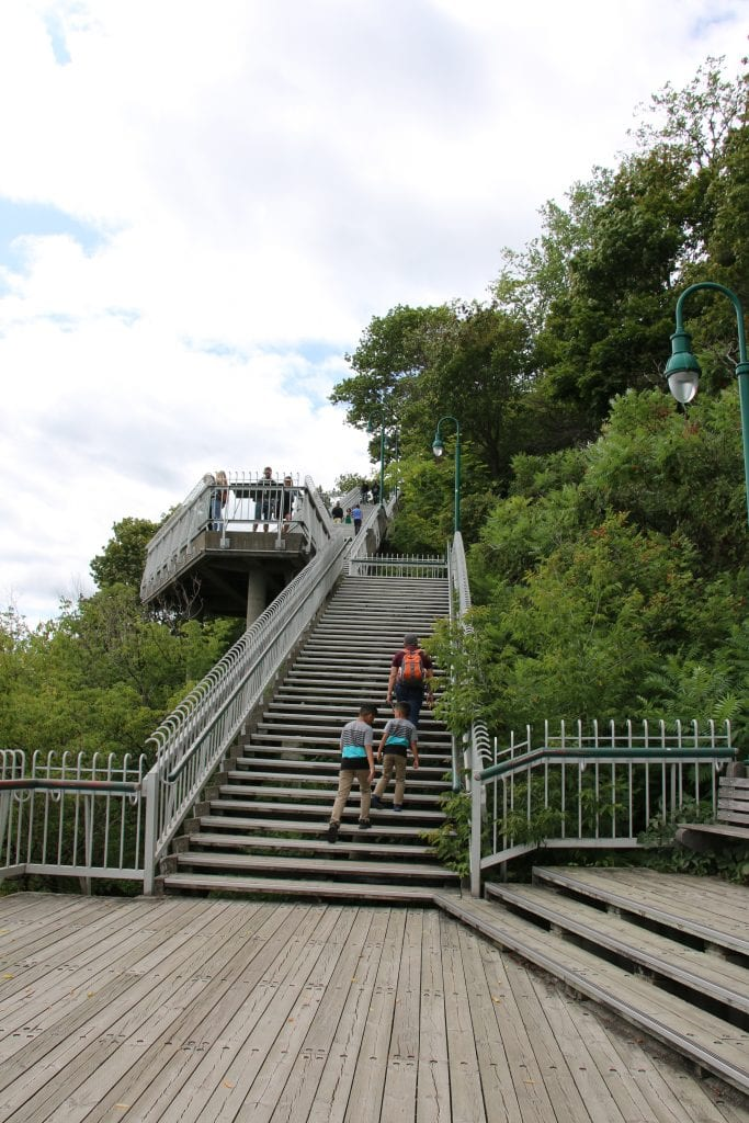 Climbing up to La Citadelle de Quebec