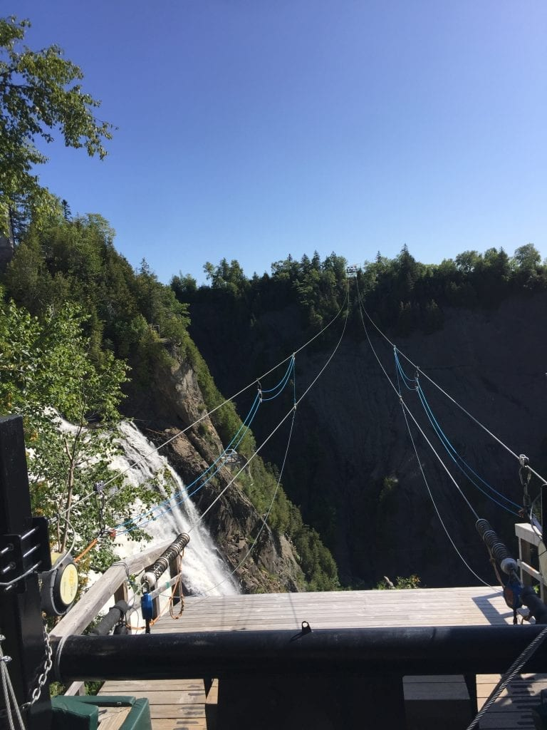 Zipline over Montmorency Falls